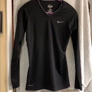 Nike pro combat black shirt